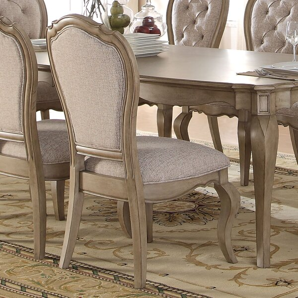 Donatella Upholstered Dining Chair (Set of 2) by One Allium Way