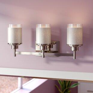 Reviews Nash 3-Light Vanity Light By Ebern Designs