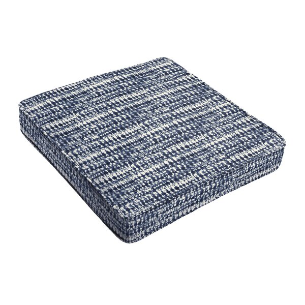Piped Indoor/Outdoor Dining Chair Cushion by Highland Dunes