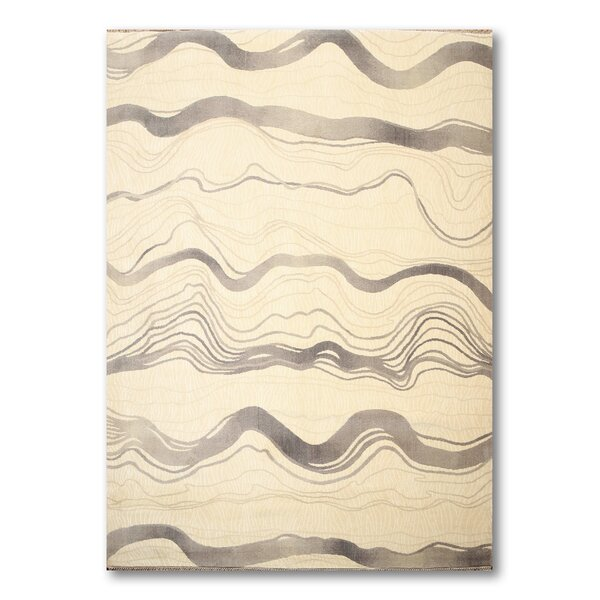 Schaper Wool Gray/Ivory Area Rug by Orren Ellis