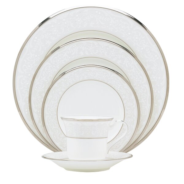 Silver Palace Bone China 5 Piece Place Setting, Service for 1 by Noritake