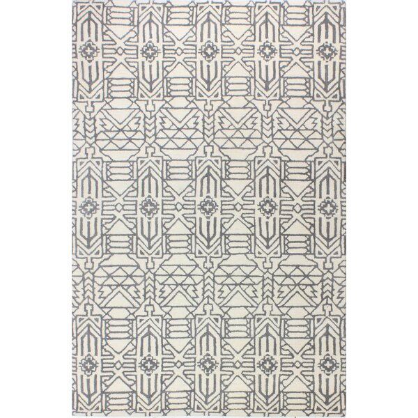 Lonergan Hand-Woven Wool Ivory/Gray Area Rug by Union Rustic