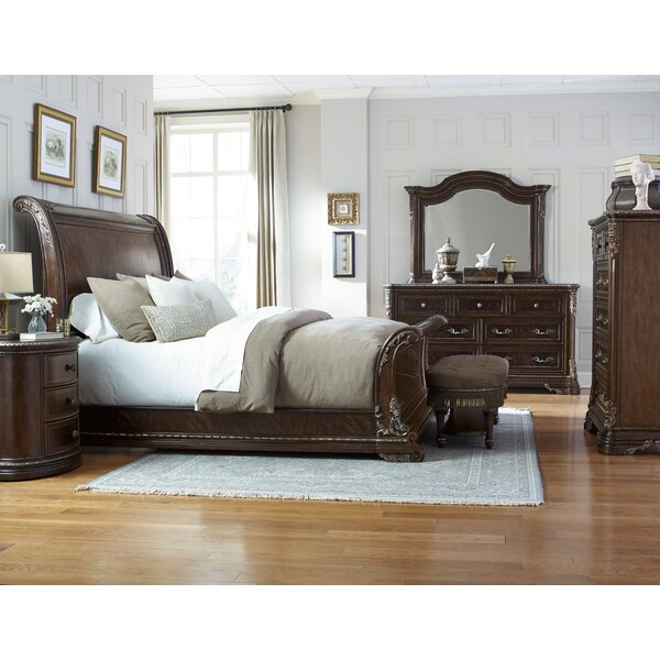 Hepburn Sleigh Configurable Bedroom Set by Astoria Grand