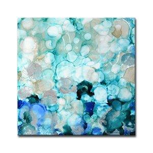 Mermaid Pearls II by Norman Wyatt, Jr. Painting Print on Wrapped Canvas by Ready2hangart
