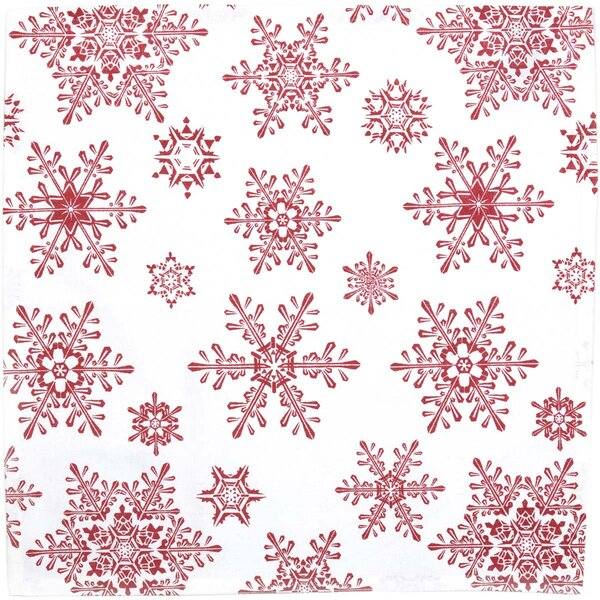Snowflake Napkin Placemat (Set of 6) by The Holiday Aisle