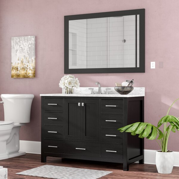 Raishon 48 Single Bathroom Vanity Set with Ceramic and Mirror by Willa Arlo Interiors