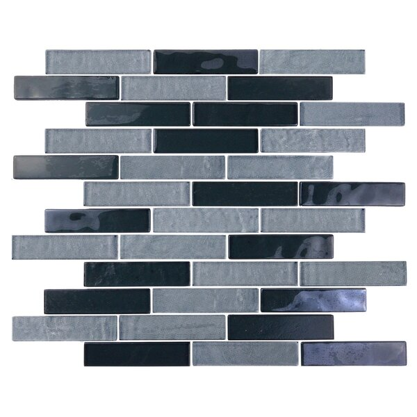 Landscape 1 x 4 Glass Mosaic Tile in Gray by Abolos