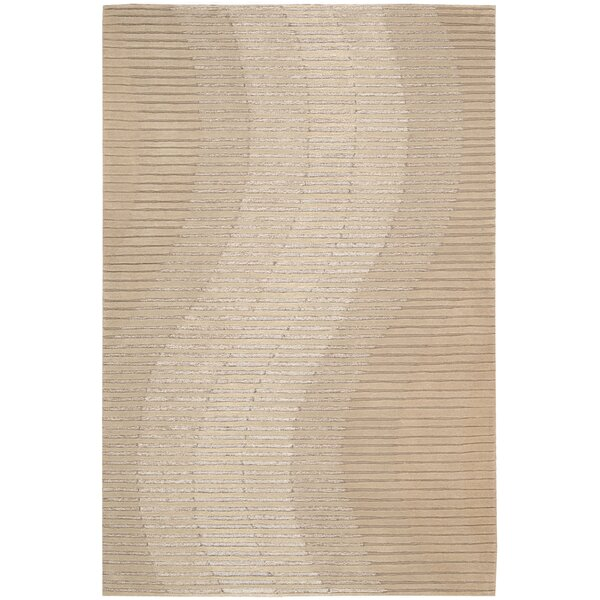 Robins Hand-Woven Sand Area Rug by Orren Ellis
