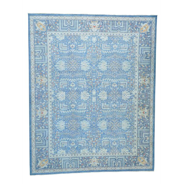 One-of-a-Kind Bagby Hand-Knotted Sky Blue Area Rug by Isabelline
