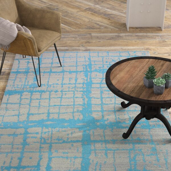 Diego Cotton Turquoise Area Rug by Williston Forge