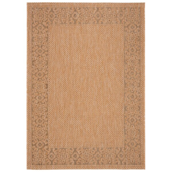 Beige / Natural Indoor/Outdoor Area Rug by Winston Porter