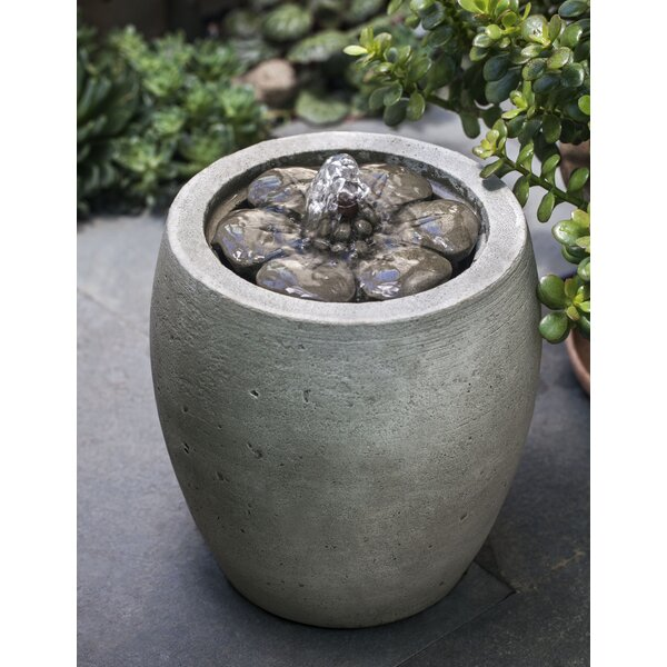 Camellia Concrete Garden Terrace Fountain by Campania International