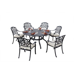 Keyes 7 Piece Dining Set with Cushions