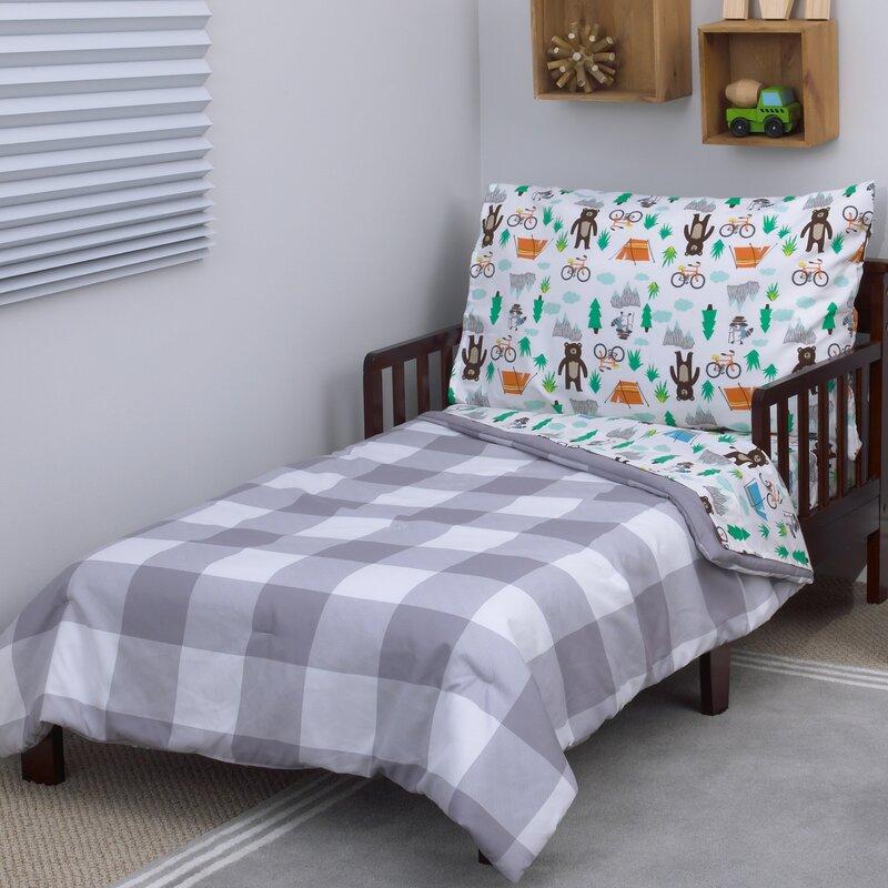 woodland boy 4 piece toddler bedding set - Toddler Bedding Set