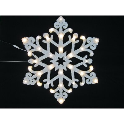 """Queens of Christmas 24"""" LED Star Lighted Window Décor"""