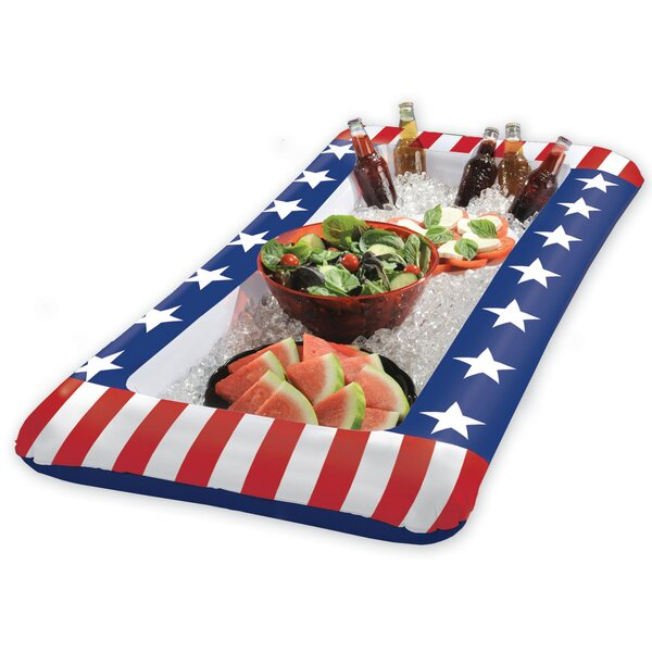 Patriotic Stars and Stripes Inflatable Cooler by Amscan