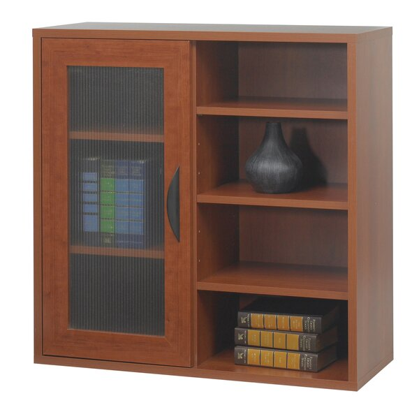 Safco® Apres Modular Storage Single Door/Open Standard Bookcase by Safco Products Company