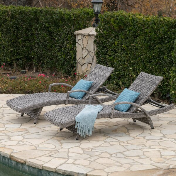 Hershman Armed Chaise Lounge (Set Of 2) By Highland Dunes