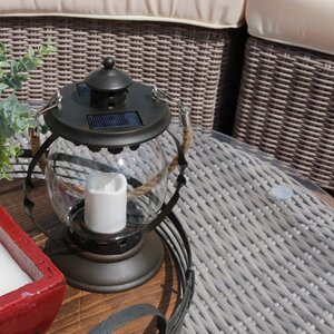 Outdoor Glass Globe Solar Lantern