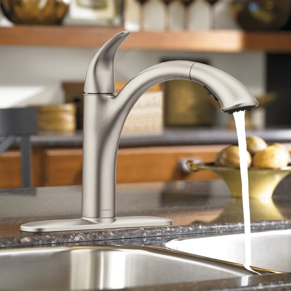 Camerist Pull Out Single Handle Kitchen Faucet with Duralock™ by Moen