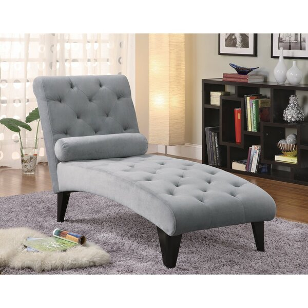 Dhamala Fashionably Button Tufted Chaise Lounge by Red Barrel Studio
