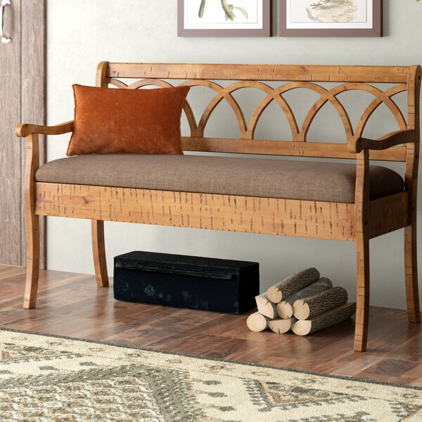 Bianchi Wood Storage Bench by Loon Peak