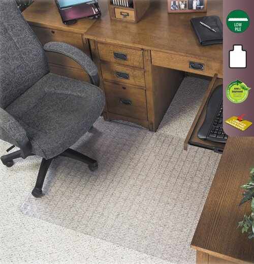 Checkered Low Pile Carpet Beveled Edge Chair Mat by Deflect-O Corporation