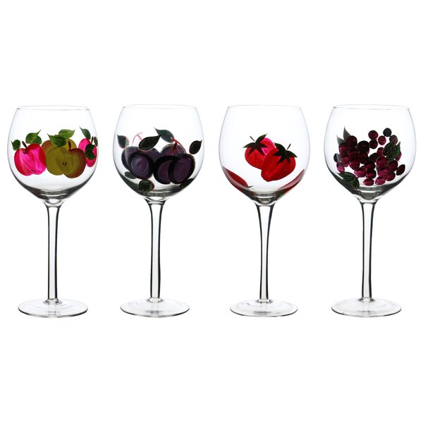 Freemont 16 Oz. Wine Goblets Fine Cordial Glass (Set of 4) by Red Barrel Studio