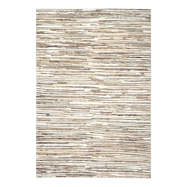Macdonald Hand-Woven Ivory/Brown Area Rug by Union Rustic