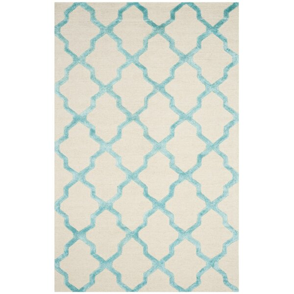 Parker Lane Hand-Tufted Ivory/Turquoise Area Rug by Darby Home Co