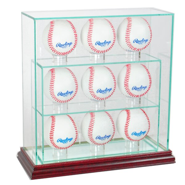 9 Upright Baseball Display Case by Perfect Cases