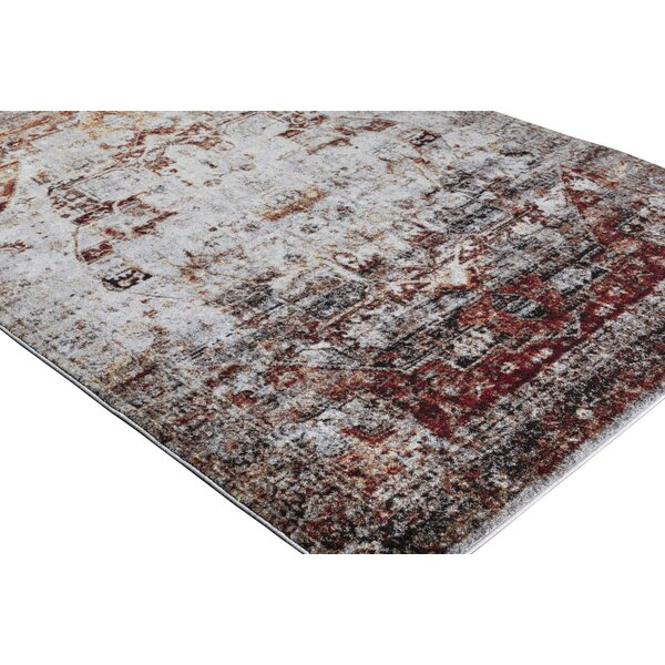 - World Menagerie Brahim Red/Gray Area Rug & Reviews Wayfair