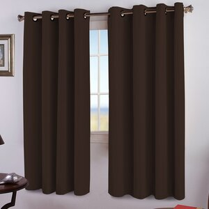 JC Solid Blackout Thermal Grommet Curtain Panels (Set of 2)