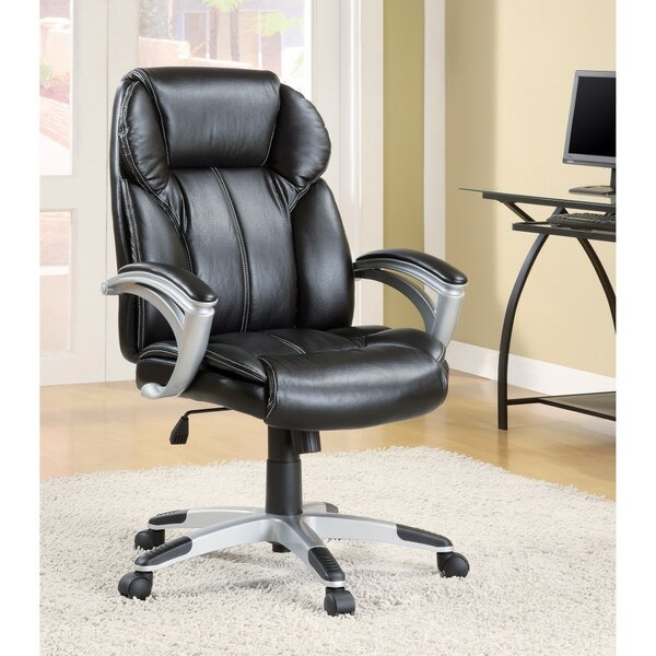 Lanphear High-Back Leather Executive Chair by Symple Stuff
