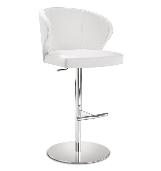 Dolmen Adjustable Height Swivel Bar Stool by YumanMod