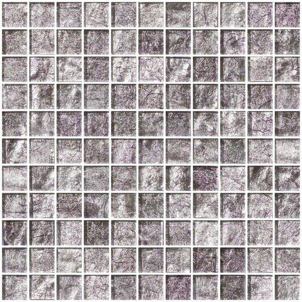 1 x 1 Glass Mosaic Tile in Lavender Pearl by Susan Jablon