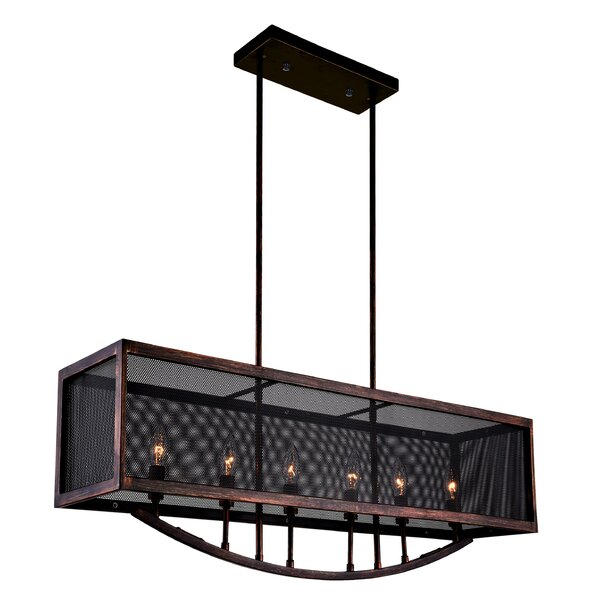 Calypso 6-Light Kitchen Island Pendant by CWI Lighting