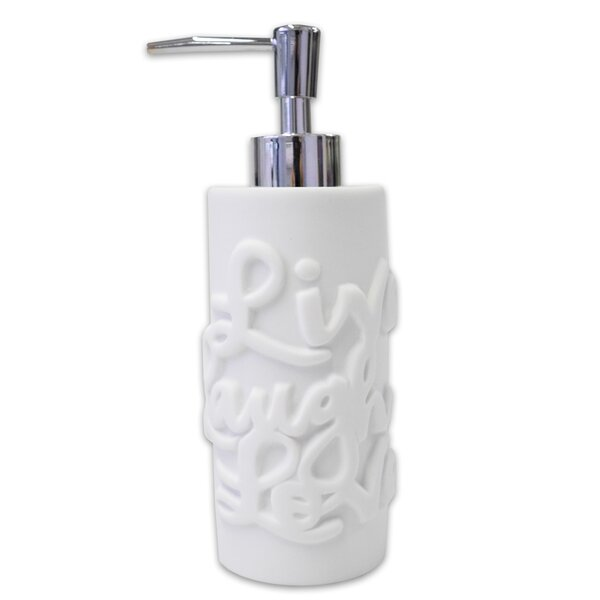 Elaina Live Laugh Love Resin Lotion Dispenser by Ivy Bronx