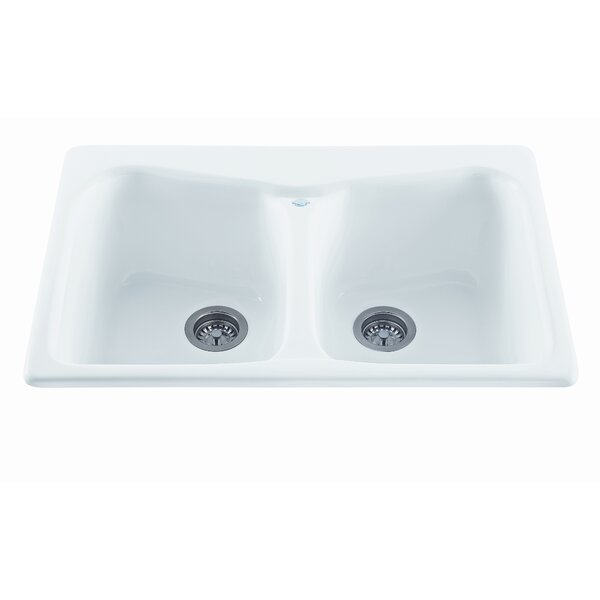 Reliance 33 L x 22 W Colonial Double Bowl Kitchen Sink by Reliance