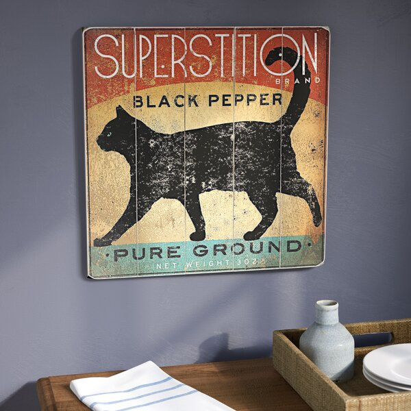 Superstition Cat Wall Art by Red Barrel Studio