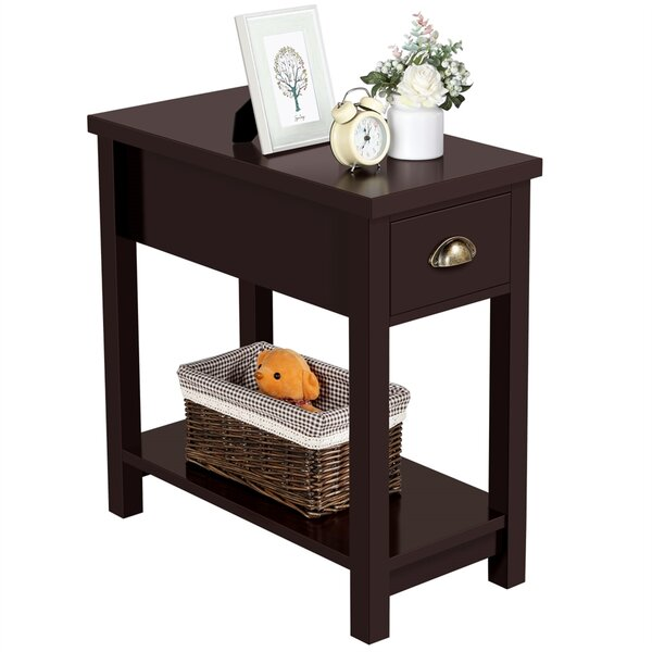Born End Table With Storage By Winston Porter