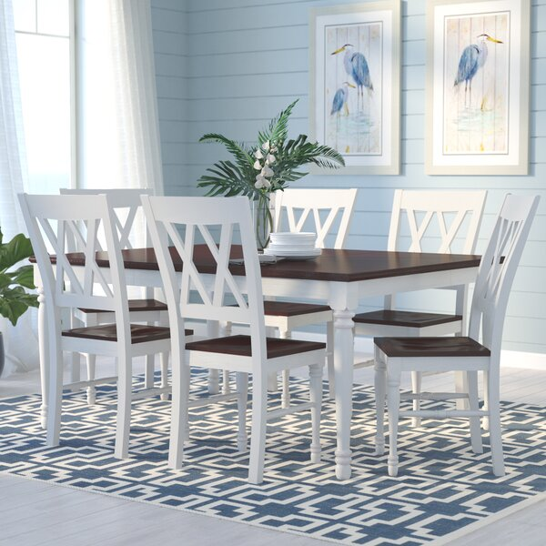 Tanner 7 Piece Extendable Dining Set by Beachcrest Home