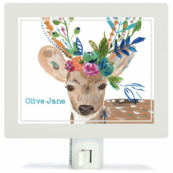Boho Deer Night Light by Oopsy Daisy