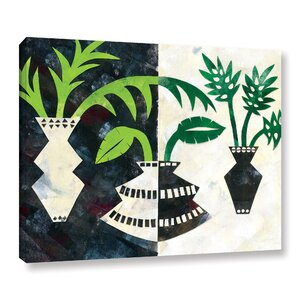 Pretty Palms V Graphic Art on Wrapped Canvas by Ivy Bronx