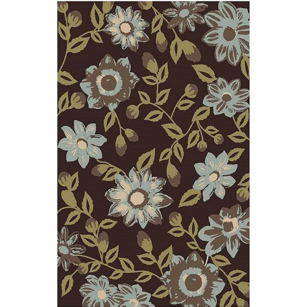 Aden by Art 1893 Brown/Blue Area Rug by Charlton Home