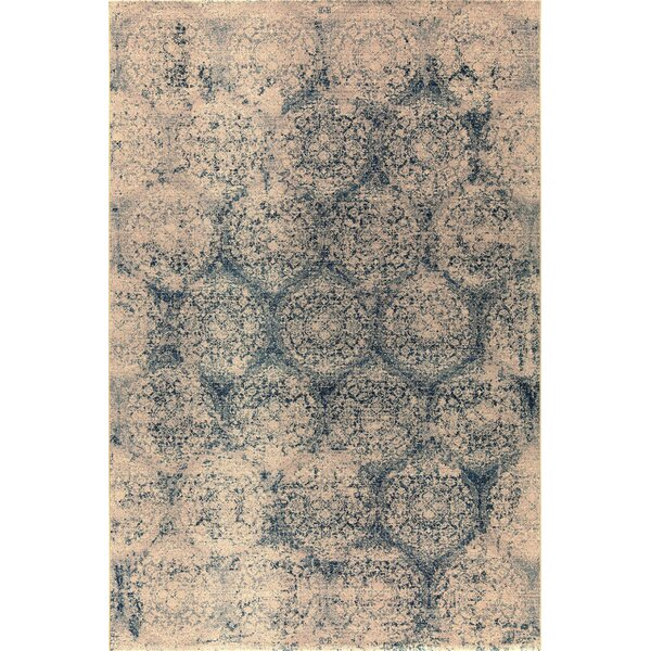 Covington Wool Blue/Beige Area Rug by Bungalow Rose