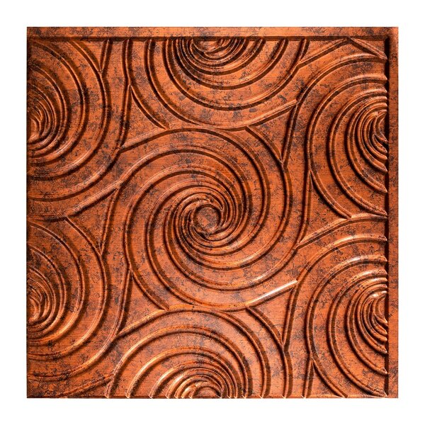 Typhoon 2 ft. x 2 ft. Glue-Up Ceiling Tile in Moonstone Copper by Fasade