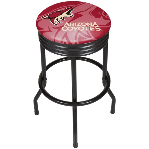 NHL Ribbed 28.5 Swivel Bar Stool by Trademark Glob