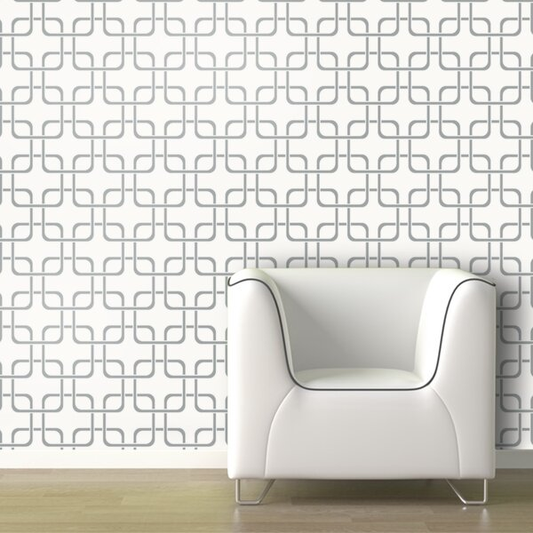 Cubix Geometric Panel 54'' H x 26'' W Wallpaper by Swag Paper