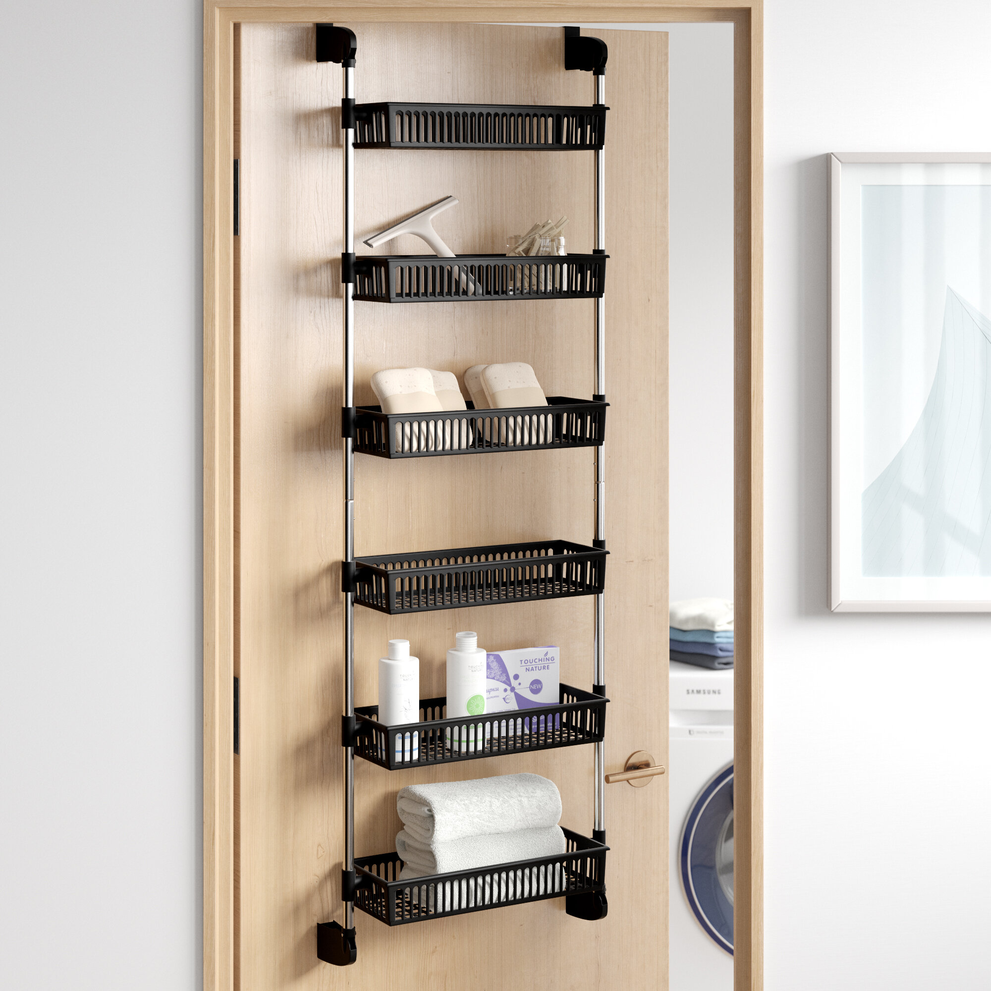 Dotted Line Caryl Overdoor 6 Shelf